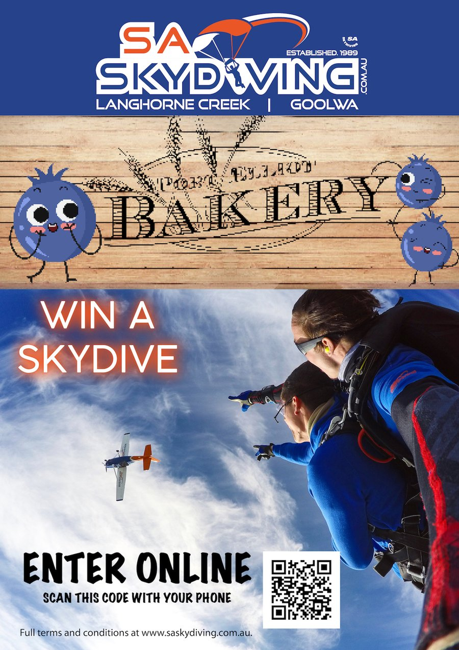 SA Skydiving teams up with Port Elliot Bakery to bring you a mouthwatering competition