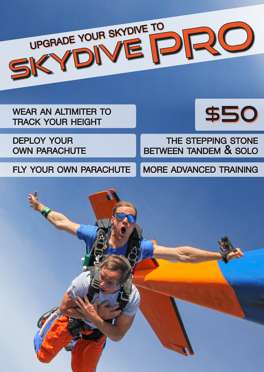 Take your skydive to the next level!