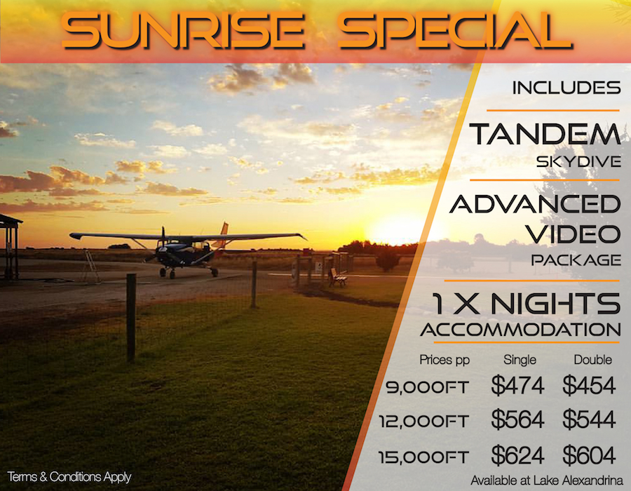 Sunrise Special + Accommodation